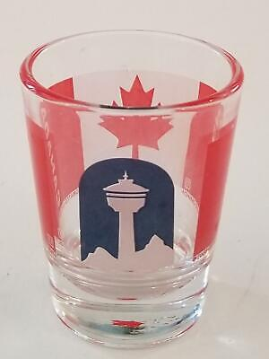 CALGARY TOWER ALBERTA CANADA Maple Leaf Collectible Shot Glass !!!