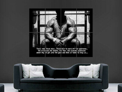 Bodybuilding Poster Weights Gym Bodybuilder Print Fitness Weightlifting Workout