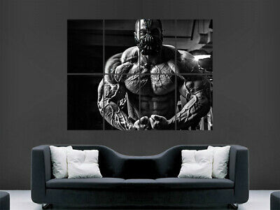 Bodybuilding Poster Weights Bodybuilder Print Workout  Fitness Weightlifting Gym