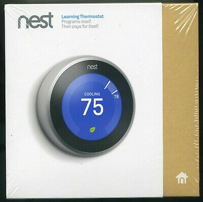 Nest 3rd Gen Learning Programmable Thermostat - Stainless Steel (T3007ES)