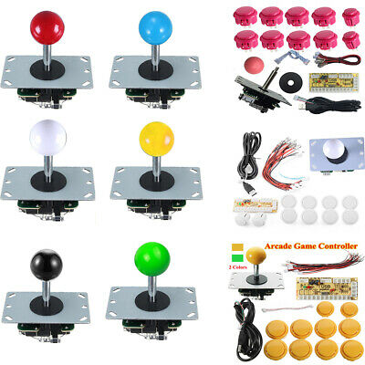 Games Arcade DIY Kit Parts Joystick 10x Push Buttons For Mame PC Games KOF