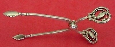 "Blossom by Georg Jensen Sterling Silver Sugar Nips 3 3/4"" Serving"