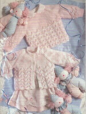 Baby Cardigans & Sweater Knitting Pattern copy 4 Ply