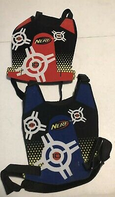 Red /& Blue Nerf DART TAG TARGET VEST SET Double-side Adjustable Straps