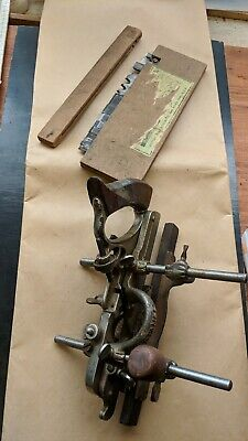 Vintage Stanley No 45 #45 Combination Plane Near Complete Cabinetmakers