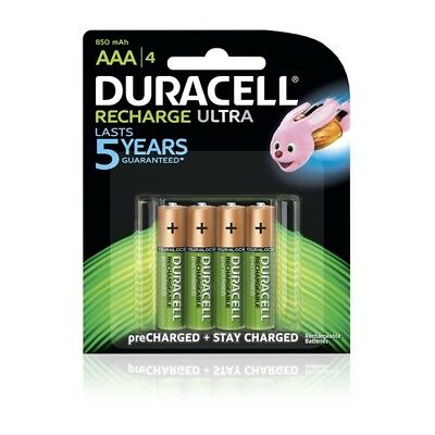 Duracell Recharge Ultra AAA Batteries - 4/Pack 850mAh 1.2V