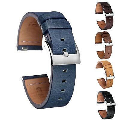 Quick Release Leather Watch Bands Calf Handmade Vintage Leather Watch Strap 1a