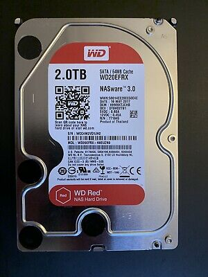 "Western Digital Red Nas 2 TB Internal 5400 RPM 3.5"" Hard Drive -WD20EFRX NAS..."