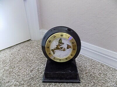 Vintage Benchmark Marble World  Quartz Time Mantel/Shelf Clock Germany
