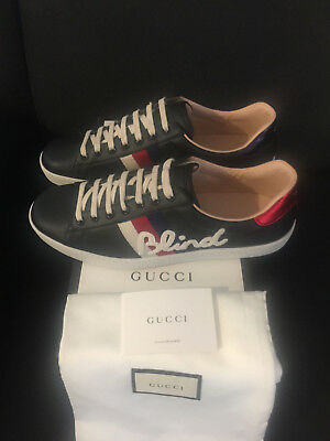 55e81dfcd Gucci Ace Blind for Love Low Top Sneaker Sneakers Herrenschuhe Neu Shoes  Men Tra