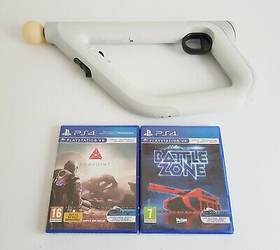 Playstation 4 VR Aim Controller w/ NEW Farpoint & Battlezone Games PSVR