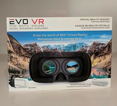 Merkury Innovations 3D EVO Virtual Reality Headset with Bluetooth Controller