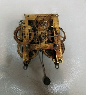 Ingraham clock movement, very old with striker
