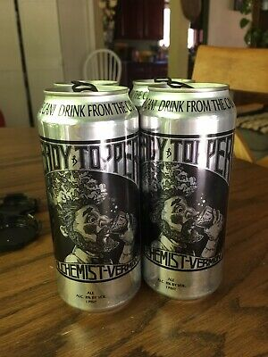 Heady Topper 4 Empty Cans 1 Pint From The Alchemist Brewery Vermont