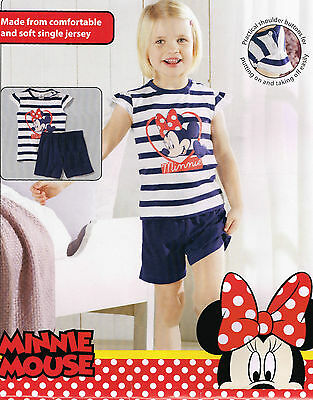 Girls Navy And White Minnie Mouse Pyjamas Age 12-24 Months From Disney Bnwt