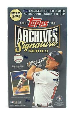 2018 Topps Archives Signature Series Active Retired Player Ed Baseball Hobby Box