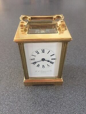 Very High Quality Fully Serviced  H J Cooper & Co , LONDON French Carriage Clock
