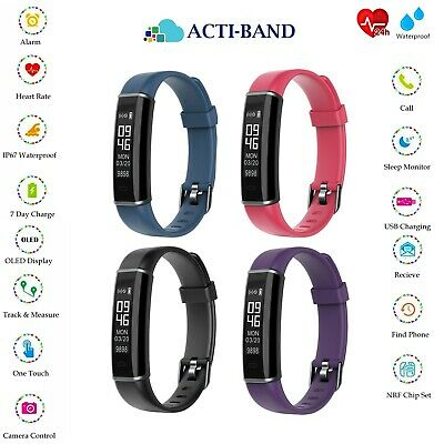ACTI-BAND Activity Fitness Band Heart Rate Android iOS Tracker Smart Watch Step