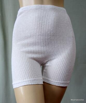 VINTAGE SOFT WHITE FANCY KNIT COTTON BLOOMERS PANTIES KNICKERS Sm/Med NWOT