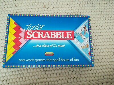 JUNIOR SCRABBLE BOARD GAME 1989 Spear's Games COMPLETE EXCELLENT COND