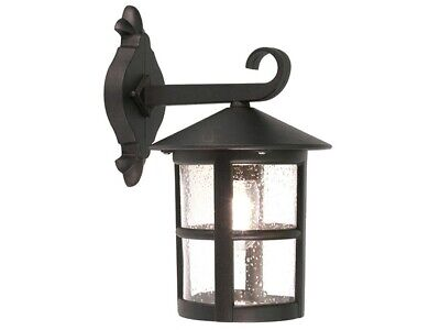 Elstead Lighting  Hereford Wall Lantern Black Outdoor Metal & Glass Construction