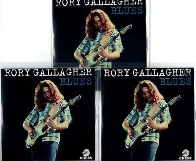 PROMO 3xCD SET RORY GALLAGHER BLUES + PRESS RELEASE LINER NOTES LIVE ELECTRIC