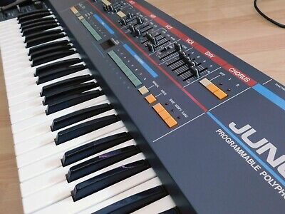 Roland Juno 106 Analog Polyphon Synthesizer PLUS 2 Voicechips And 4 Fader