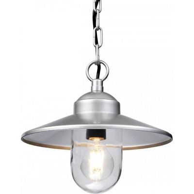 Elstead  Klampenborg One Chain Light Silver Stainless Steel Outdoor