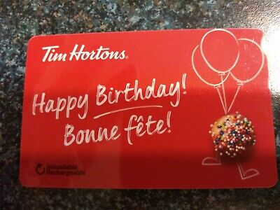 Collectable Tim Hortons Happy Birthday Gift Card #Fd61812..No Monatary Value