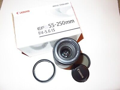 Canon EF-S 55-250mm f/4.0-5.6 IS Lens GREAT CONDITION!