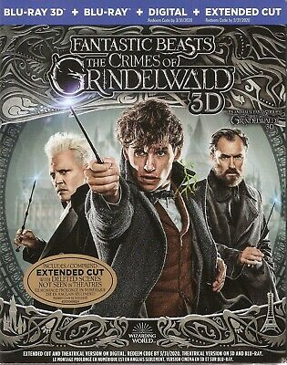Fantastic Beasts The Crimes Of Grindelwald 3D Bluray & Blu-Ray & Digital Set