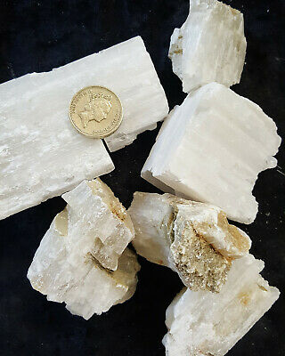 1 Kilo Raw Selenite Wands Crystal Pieces Dowser Angel Stone Healing Chakra