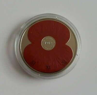 2008 Commemorative Coin . Poppy . Lest We Forget .