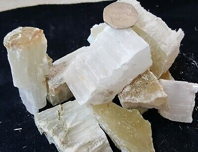 Large Chunks 1 Kilo Raw Selenite Crystal Dowser Angel Stone Healing Chakra