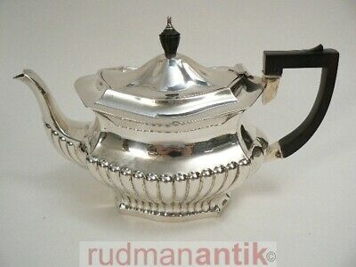 Teekanne Sterling Silber 925 Queen Anne Stil - William Aitkan Chester 1900