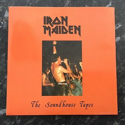 """Iron Maiden - The Soundhouse Tapes 7"""" HR09 Blue Vinyl *Metal*"""