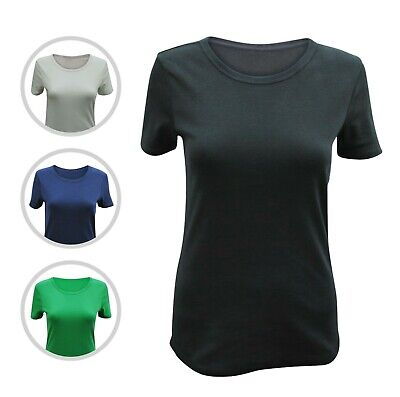 Womens Ex Marks & Spencer T-Shirt R Neck Top Ribbed Plus Size 6 to 24 M&S