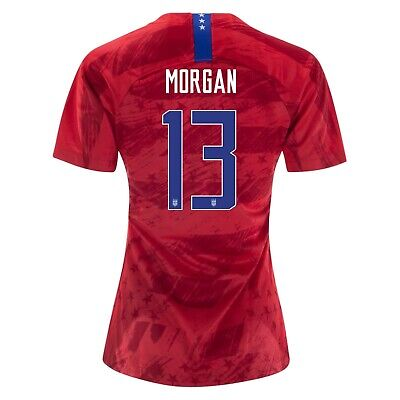 Alex Morgan #13 USA WOMENS Red 2019 World Cup SOCCER JERSEY