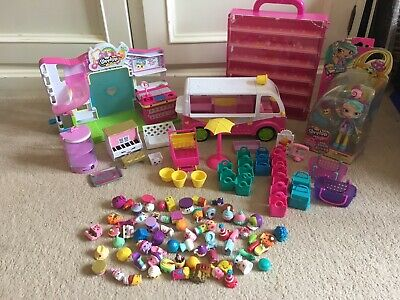 Shopkins Doll, Carry Display Case, Supermarket & Ice-Cream Van Plus 70 Shopkins
