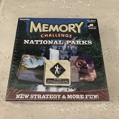 SEALED Memory Challenge National Parks Edition Photos Cards Game USAopoly NEW