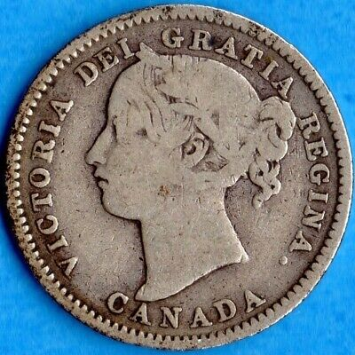 Canada 1896 10 Cents Ten Cent Silver Coin - Very Good