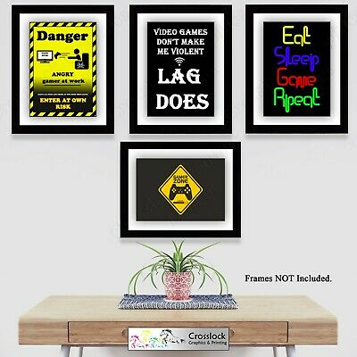 PC Gaming Photo Poster Print ONLY Wall Art Gamer Game Pictures Size A4 & A3