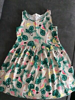 CA Girls BNWT Tropical Tiered Dress age  5  6  7  8 9 Summer Holiday Matalan