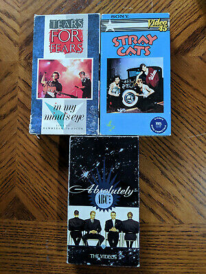VINTAGE 80S 90S VHS Recorded Video Tapes Lot of 11 Sold as Blanks