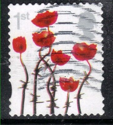 GB 2012 QE2 1st Poppies Lest we forget Error Yellow colour shift SG 3414 ( (934