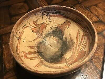 Large Antique Ancient Costa Rica Pre-Columbian Decorated Pottery BOWL