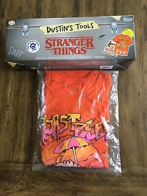 Funko POP Stranger Things Dustin's Tools Box *Shirt And Box Only*!! Size XL