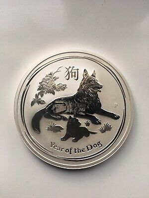 2018 1 Oz Year Of The Dog Silver Coin Australia