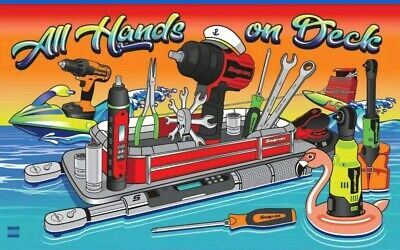 """Snap-on Tools 2019 Beach Towel Limited Edition All Hands on Deck 60"""" x 34"""" New"""