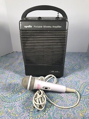 Apollo Portable Wireless Amplifier Amp Ac Dc Battery Pa-5000 Used